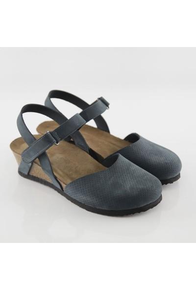 ART'iz Perge Lacivert Platform Sandalet
