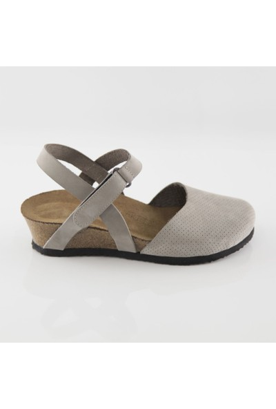 ART'iz Perge Gri Platform Sandalet