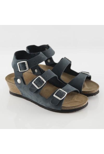 ART'iz Alabanda Lacivert Platform Sandalet
