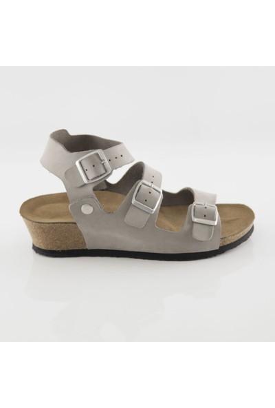 ART'iz Alabanda Gri Platform Sandalet