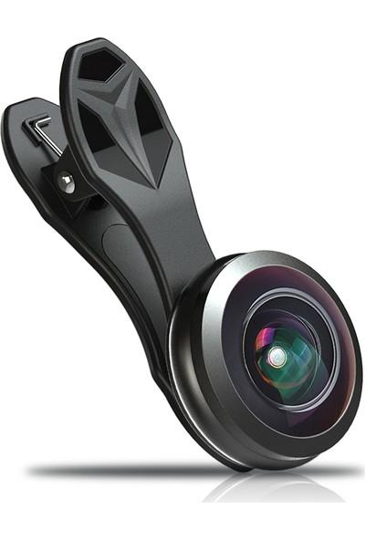 Apexel 238 Derece Balık Gözü Telefon Lensi
