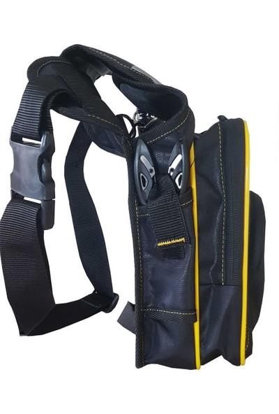 Kendo Bacaktan Bağlamalı Spin Çantası (Siyah-Sarı )