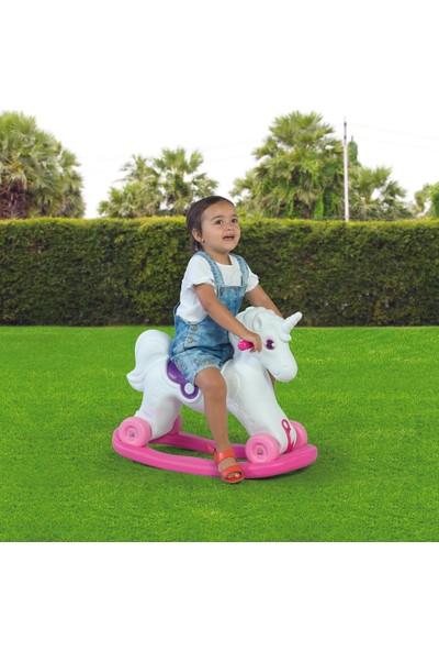 Dolu 2509 Unicorn Sallanan Tekerleklı At