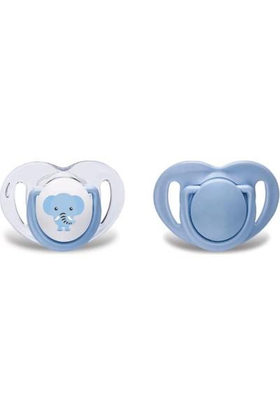 Mamajoo Silikon Emzik Mavi Fil 2'li 12 Ay+