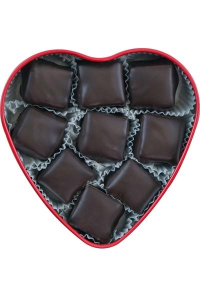 Metal Kalp Kutuda Çikolata Kaplı Fıstıklı Lokum 80 gr x 2'li