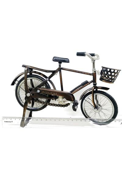 Ramosis Sepetli Bisiklet Dekoratif Biblo El Işçiliği Eskitme Naturel Orta Boy