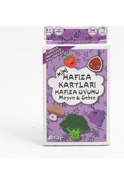 Ağaçtanya Hafıza Kart Oyunu Meyve ve Sebzeler
