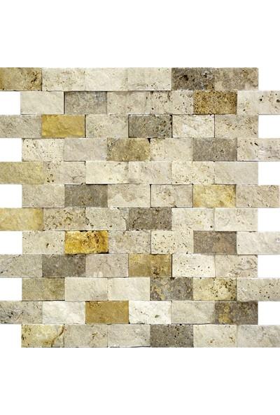 Natural Duvar Kaplama Patlatma Taş 3'lü Mix 2,5 x 5