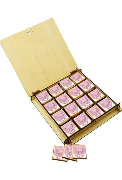 Camp Clover Sevgiliye Özel Ahşap Kutulu Çikolata 50'li