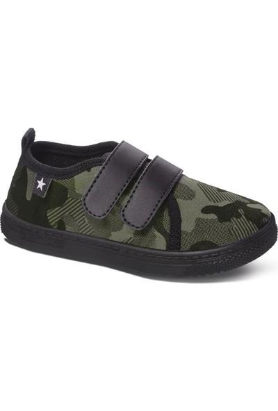 Sanbe 106 P 120 26-30 Kız Çocuk Panduf Ayakkabı Haki