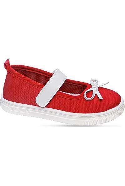 Sanbe 401 N 009 20-25 Kız Çocuk Keten Ayakkabı Kırmızı