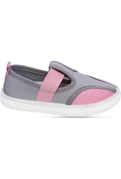 Sanbe 401 N 012 20-25 Kız Çocuk Keten Ayakkabı Gri