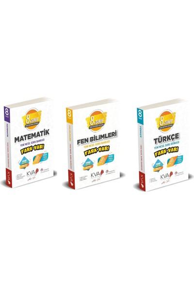 Kva Yayınları 8. Sınıf Fark Var Matematik Türkçe Fen Soru Bankası Seti 3 Kitap
