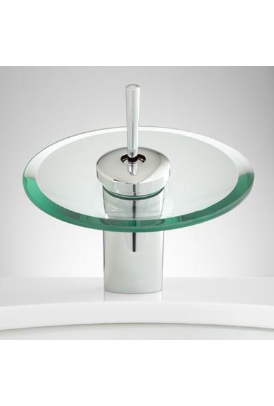 Hedı's Home Şelale Oval Camlı Lavabo Bataryası