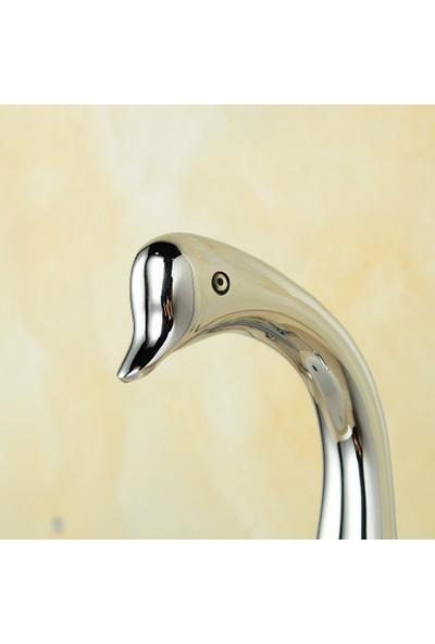Hedi's Kuğu Ördek Model Krom Lavabo Bataryası