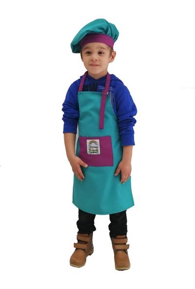 Mezuniyetshop Şapkalı Mutfak Önlüğü Etkinlik Önlüğü Çocuklar Için