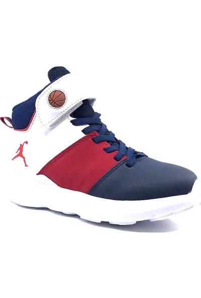Cool 19-K31 Filet Lacivert-Kırmızı Erkek Çocuk Basketbol Ayakkabısı