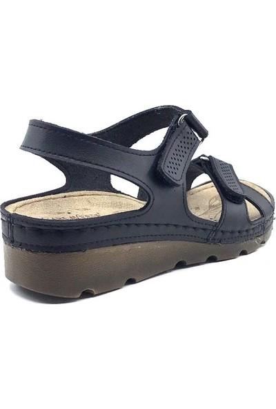 Carla Verde 160107 Siyah Kadın Sandalet Ayakkabı