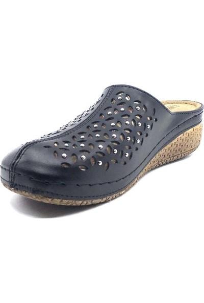 Carla Verde 8670 Siyah Günlük Kadın Terlik Ayakkabı