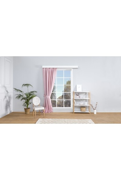 Gauze Fabric Design Vivaldi Pembe Fon Perde 50x260 Orta Pile