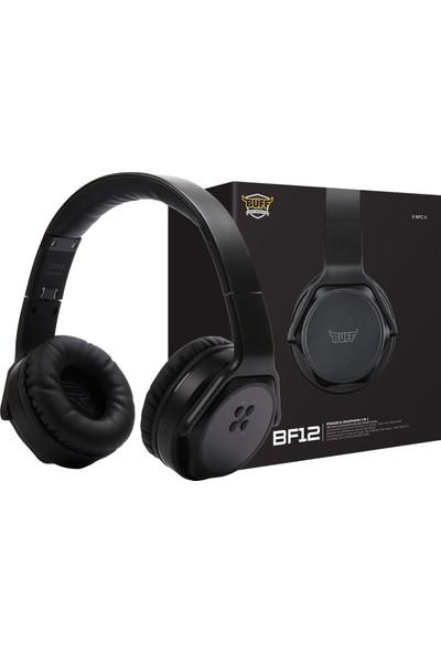 Buff BF12 Bluetooth Kulak Üstü Kulaklık - Siyah