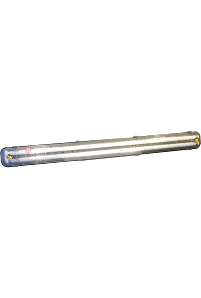 Asilsan Ex-Proof Etanj LED Floresan Armatür + Ampul 2 x 36 W