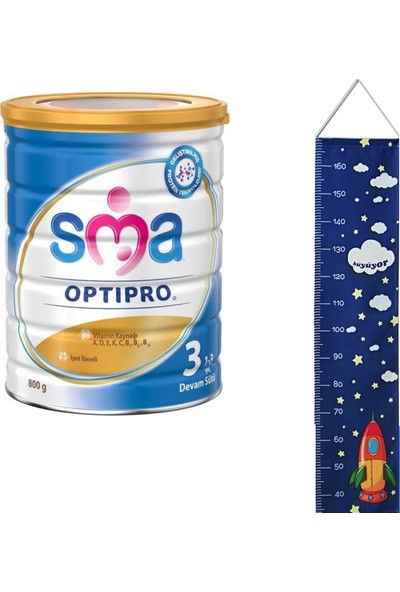 Sma 3 Optipro Devam Sütü 800 gr + Kumaş Boy Ölçer