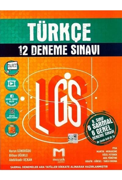 Mozaik Yayınları 8. Sınıf LGS Türkçe 12'li Deneme Sınavı