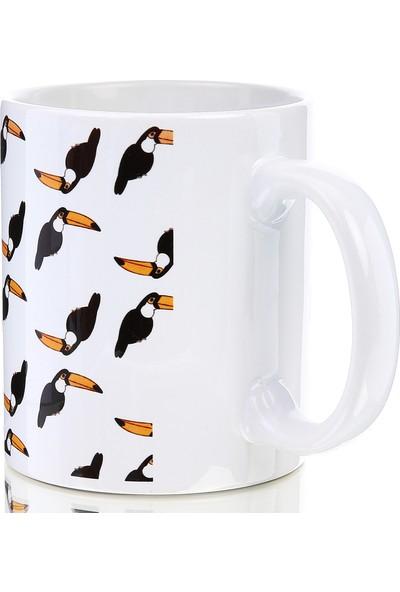 Kuş Arkadaşım Tukan Kuşu Kupa (Desenli)