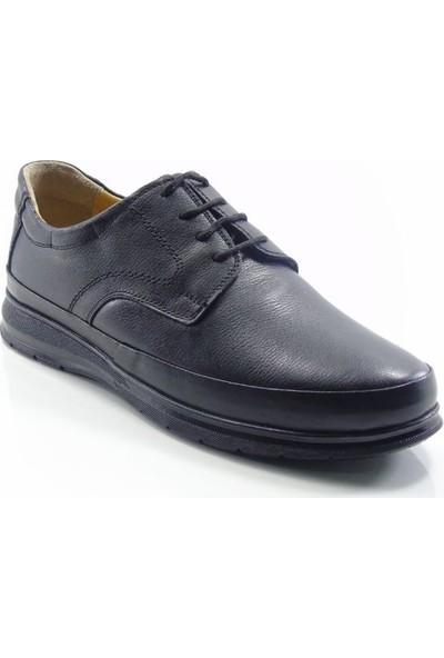 Bemsa 0554 Deri Anatomik Bağcıklı Erkek Ayakkabı