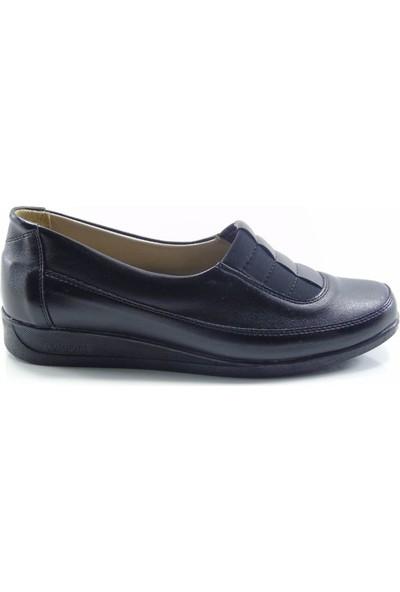 Norfix 352 Siyah Deri İç Astarlı Anatomik Kadın Ayakkabı