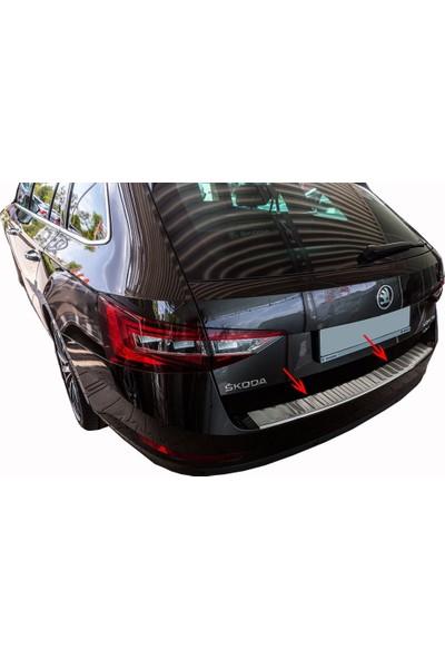 Arabamsekil Skoda Superb 3 Krom Arka Tampon Eşiği 2015-