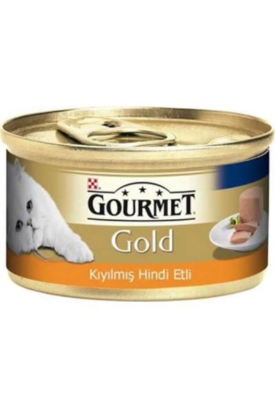Gourmet Gold Kıyılmış Hindi Etli Yetişkin Kedi Konservesi 85 gr