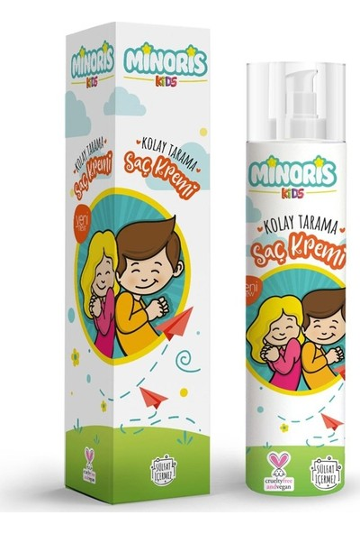 Minoris Kids Organik Kolay Tarama Saç Kremi 200 ml