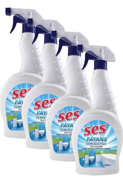 Ses Fayans Temizleyici 750 ml - 4 Adet