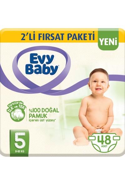 Evy Baby Bebek Bezi 5 Beden 2 Paket 48'li