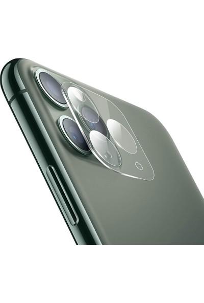 Dafoni Apple iPhone 11 Pro Max 3D Cam Kamera Koruyucu