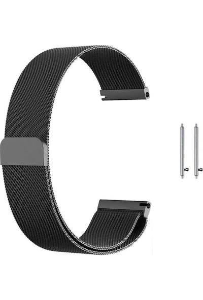 Teleplus Huawei Watch GT2 46mm Metal Hasır Kordon Siyah