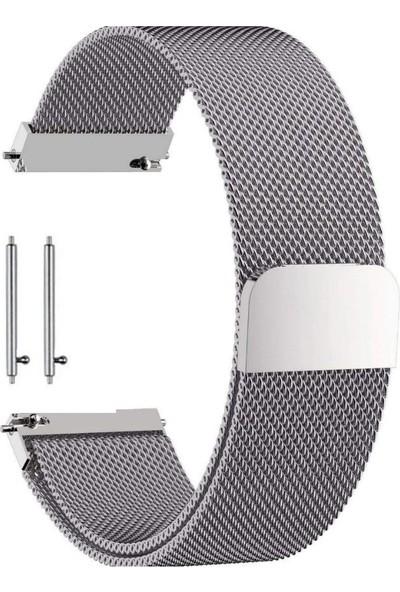 Teleplus Huawei Watch GT2 46mm Metal Hasır Kordon Gümüş