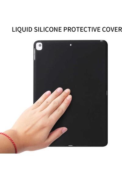 "Tbkcase Apple iPad Pro 10.2"" Kılıf Lüks Tpu Soft Sky Silikon Siyah + Nano Ekran Koruyucu"