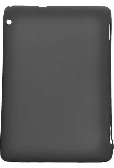 "Tbkcase Huawei MediaPad T5 10"" Lüks Soft Sky Silikon Kılıf Siyah + Nano Ekran Koruyucu"