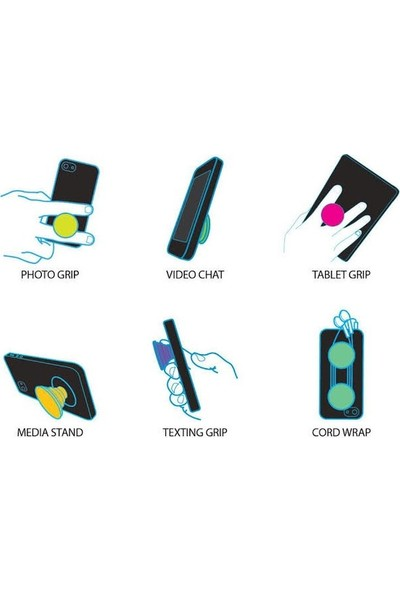 Syronix Pop Socket Türk Bayrak Desenli Telefon Tutacağı
