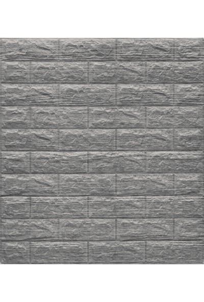 Renkli Duvarlar Renkliduvarlar Çizgili Gri Beyaz Kendinden Yapışkanlı Tuğla Esnek Duvar Paneli