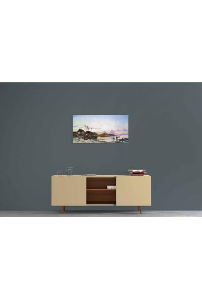 Parmak İzi Tablo Hermann David Salomon Corrodi - Nil Kıyısı - 30X70