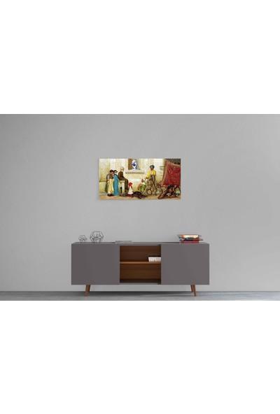 Parmak İzi Tablo Osman Hamdi Bey - Sokakta Farsça Halı Satıcısı (1888) - 30X80