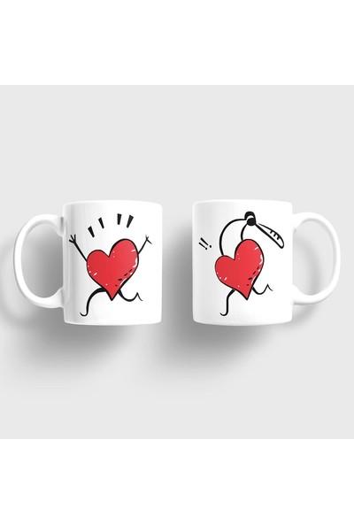 Sevgili Kupaları Aşkını Kovalayan Kalp Sevgili Kupaları