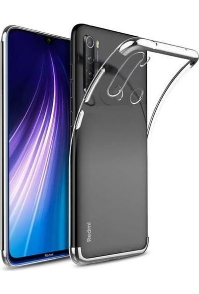 Coverzone Huawei P Smart Pro 2019 Kılıf Dört Köşeli Lazer Silikon Thunder Gümüş