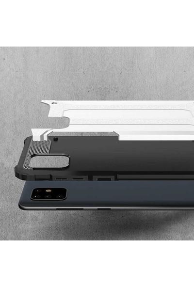Coverzone Huawei P Smart Pro 2019 Kılıf Shockproof Slikon Zırh Siyah