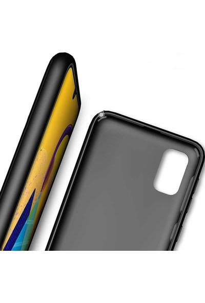 Coverzone Samsung Galaxy A51 Kılıf Düz Çizgili Mat Active Silikon Kılıf Tio Lacivert