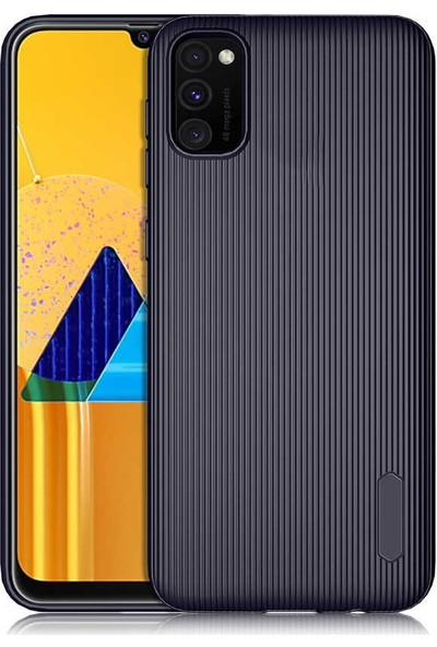 Coverzone Samsung Galaxy Note 10 Lite Kılıf Düz Çizgili Mat Active Silikon Kılıf Tio Lacivert